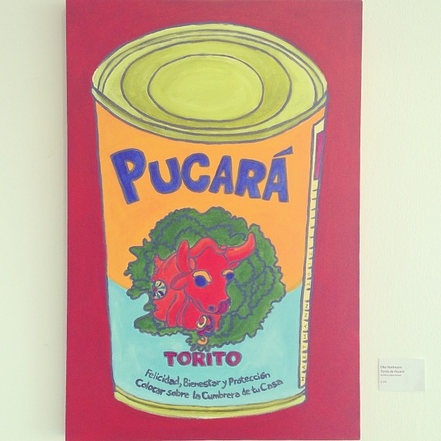 """""""Torito de Pucará"""" de Elke Hartmann $270 • Bazarte #bazarte #arteenlima #artinlima #arte #art #artist #artista #pintura #painting #warholsoup #warholperuano #andywarhol"""