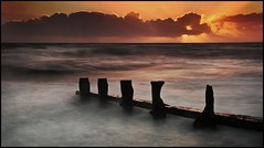 Sunset Serenity. (muddlemaker1967) Tags: longexposure winter sunset seascape water clouds nikon tide hampshire groyne 1870mm d300s