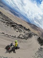 Pushing round Volcan Peinado