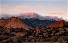 Pikes Peak (RondaKimbrow) Tags: winter mountain landscape photography colorado gardenofthegods snowcapped coloradosprings frontrange pikespeak rockformation outdoorphotographer rondakimbrowphotography