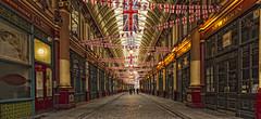 LEADENHALL MARKET (mark_rutley) Tags: city england urban london leadenhallmarket market flags tones unionjack unionflag hdr cityoflondon bunting