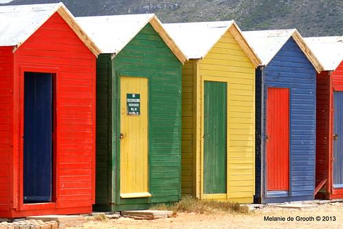 Coloured Beach Huts