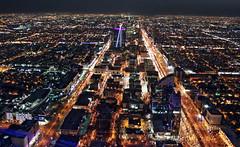 Riyadh at night (Metabolid) Tags: street city car night dawn lights kingdom tiny saudi arabia oliya