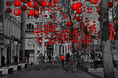 Lanterns in St Annes Square, Manchester, for the Chinese New Year (Gidzy) Tags: china city uk greatbritain trees red england blackandwhite horse english history tourism museum asian manchester europe chinatown gallery cityscape northwest unitedkingdom tiger sightseeing chinese culture visit tourist exhibition lancashire lantern northwestern ethnic links eastern hsbc englishhistory latern ethnicity chineselanterns madchester nortwest northernengland laterns redlanterns greatermanchester enlgand lattern lanttern mancunians lanturn northwestengland yearofthehorse enlgish chineseneyyear englishlandscape mamucium northernlandscapes saintannessquare lanternn manchesterlanterns lanternsinmanchester tigerlanterns lanternsinthetrees chinesenewyearyearofthehorse savefop
