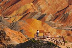Zhangye Danxia Landform (baddoguy) Tags: china man landscape gansu unseen traveler traveldestination zhangye danxialandform danxiadimou