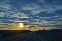 On the road (Can Bozkr) Tags: road sunset sky cloud sun beautiful clouds composition digital turkey way interesting nikon cloudy trkiye dslr nikondigital compostion edirne thrace thracian nikondslr skyporn trakya blinkagain d3100 nikond3100