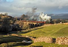 Crosby Garrett Viaduct (Kingmoor Klickr) Tags: sc cme crosbygarrett settlecarlisle 46115 scotsguardsman cumbrianmountainexpress mainlinesteam crosbygarrettviaduct