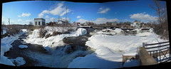 Middle Falls, Almonte, Ont. : Autostitch (chasdobie) Tags: autostitch panorama ontario canada water rural waterfall nikon scenic almonte middlefalls lanarkcounty