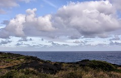 Going Back (brev99) Tags: ocean clouds landscape lava rocks day pacific cloudy nik thebigisland partlycloudy volcanopark colorefex graduatedneutraldensity tonalcontrast tamron28300xrdiif vision:mountain=0794 vision:outdoor=099 vision:clouds=099 vision:sky=099 vision:car=067 vision:ocean=0804