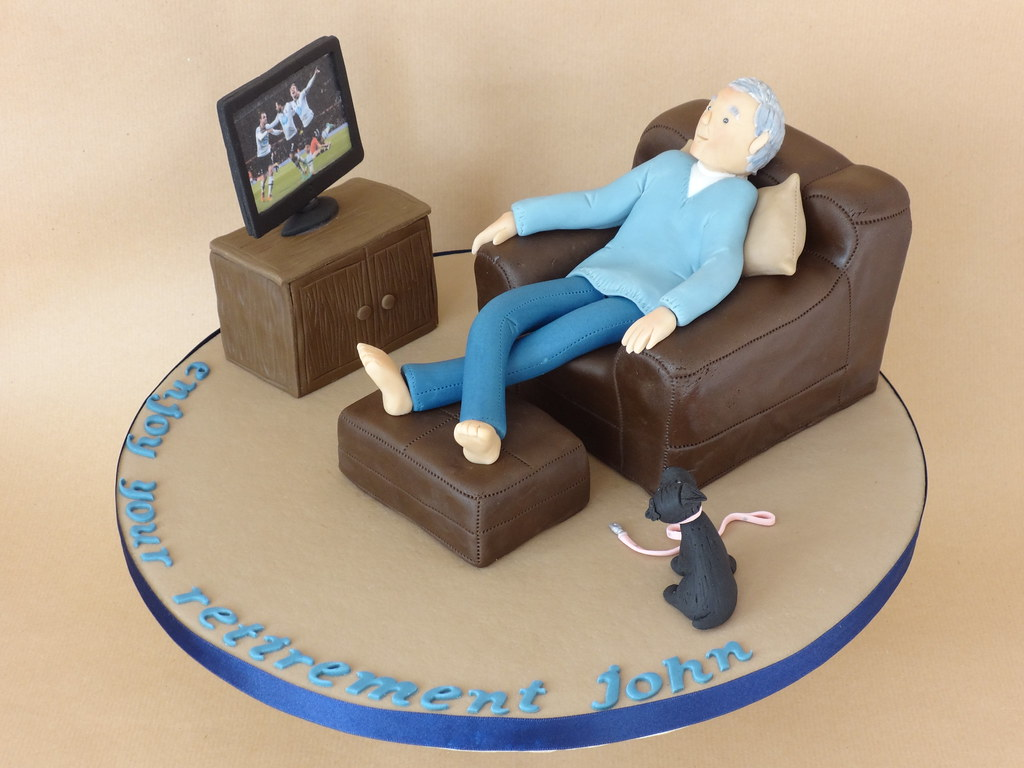 Man Birthday Cakes Sitting In Chair