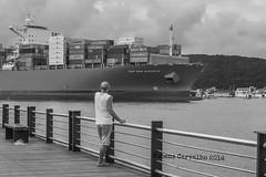 Deck do pescador. (Rubens Carvalho) Tags: bw gua pb vista rubens navio carvalho partiu cais rubenscarvalho portosantos