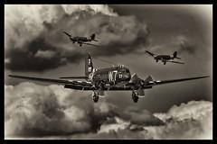 Douglas C-47A Skytrain - 39 (mod) (NickJ 1972) Tags: anniversary aviation airshow duxford 37 douglas skytrain dc3 dday dakota c47 2014 n345ab 330652 whiskey7 w7r
