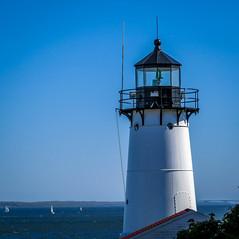Warwick Light (pvdEric) Tags: bridge blue light sky usa lighthouse water sailboat catchycolors island bay day clear rhodeisland warwick jamestown prudence narragansett
