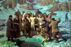 """Под лед"" картина Якова Вебера"
