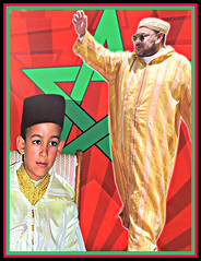 Poster - Monarch and Son, Morocco 2014 (ronramstew) Tags: poster king royal morocco maroc crownprince marruecos marokko 2014 2010s moulayhassan mohammedv1