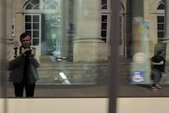 2014/06/11 18h00 autoportrait au tramway 4 (Valéry Hugotte) Tags: selfportrait autoportrait bordeaux tramway valéry grandthéâtre