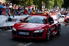 Audi R8 safety car (jbp274) Tags: cars crowd parade audi lemans automobiles 24hours r8 safetycar paradedespilotes