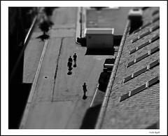 Little people (3) (frode skjold) Tags: oslo norway norge miniatyr fujifilmx20 photoshop14 blackwhite bw monochrome