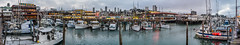 pier 45 panorama (pbo31) Tags: sanfrancisco california bayarea nikon d810 color september fall 2016 boury pbo31 city panoramic large stitched panorama fishermanswharf tourist over view bay reflection fog overcast