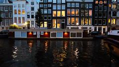 (Lin ChRis) Tags: amsterdam holland netherlands   night water  river  building art