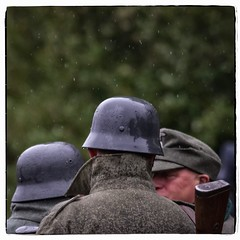 Raindrops keep falling on our Heads (david.ireland) Tags: ss german germans le visham war weekend rain colour color nymr