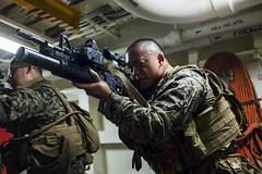 161020-N-LR795-041 (SurfaceWarriors) Tags: usnavy usssomerset 11thmarineexpeditionaryunit 11thmeu marines sailors deployment drill weaponstraining amphibioustransportdockship pacificocean california unitedstates