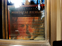 Mordecai Richler (Exile on Ontario St) Tags: bibliophile livres bookstore librairie books queenmary montral clanaranald store shop business montreal ndg notredamedegrce notredamedegrace notre dame grce grace mordecairichler inmemoriam author writer auteur crivain litterature memoriam culture jewish juif judaism judasme tribute mordecai richler death book window display vitrine littrature montrealer