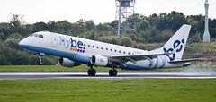 Flybe Embraer ERJ-175 G-FBJC (andrewpeeluk) Tags: plane flybe embraer embraer175 erj175 e175 man manchesterairport aviation avgeek planespotting landing