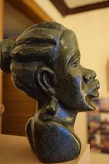 Zimbabwean Shona Art (jcbkk1956) Tags: zimbabwean african africa art stone figure serpentine carving statue sculpture nikon nikkor d3300 1855mmf3556dx shona head woman