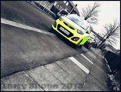 Kia Picanto (larry_shone) Tags: kia car urban selectivecolour