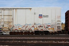 Helm/Harsh (quiet-silence) Tags: graffiti graff freight fr8 train railroad railcar art helm harsh kbt network fs armn reefer unionpacific armn111332