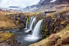 Every raindrop is telling stories (OR_U) Tags: 2016 oru iceland kirkjufellsfoss bridge le longexposure photograpehr water waterfall beyondthebridge mountains stream river rift