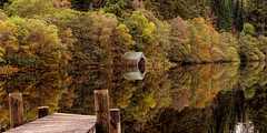 Autumn colours: Loch Ard (Thanks for all the Likes & Comments) (MilesGrayPhotography (AnimalsBeforeHumans)) Tags: autumn aberfoyle britain canon 6d canon6d 1635 canonef1635mmf4lisusm colours dusk boathouse eos ef europe evening f4l iconic landscape lens loch lochlomond lochard lochardboathouse jetty outdoors photography reflections scotland scenic stirling trees uk unitedkingdom village waterscape wide trossachs lochlomondandthetrossachs
