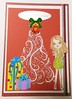 Christmas card 11_2016 (tengds) Tags: christmascard card handmadecard red white christmastree presents gifts yellow lavender christmasornament girl green papercraft tengds