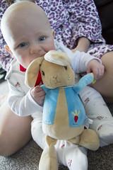 Tasty (kellyhackney1) Tags: peterrabbit gift baby babylove family love cute piccy blue littleboy cherub tasty christeninggift