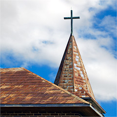 St. John Church, Bomarton, Texas (Small Creatures) Tags: abandoned church d40 baylorcounty nikond40 steeple roof texas bomarton rural rundown derelict neglected tinroof