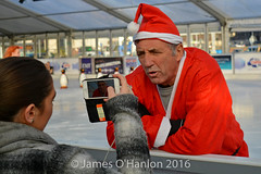 Alan Kennedy being interviewed (James O'Hanlon) Tags: santadash santa dash katumba liam smith paul stephen liamsmith paulsmith stephensmith alankennedy philipolivier tinhead alan kennedy btr juliana ritchie photo shoot press ice rink icerink lfc