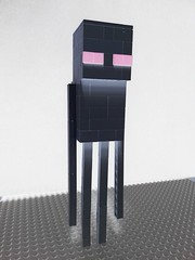 Enderman (negative) (michael1993xxxxxx) Tags: lego minecraft