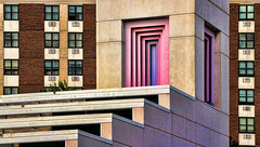 something about a pink window...HWW (LotusMoon Photography) Tags: windows building buildings architecture lines geometrical angles pink colors colorful abstract city urban church annasheradon lotusmoonphotography