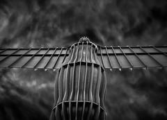 . . . the angel (orangecapri) Tags: orangecapri hss sliderssunday angel bw angelofthenorth northeast antonygormley statue art artinstallation publicart steel structure