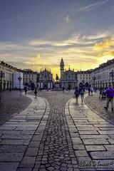 Piazza San Carlo al crepuscolo (danilodld) Tags: chiese d7200serialnumber4351116 hdr2016dldcopyrightdanilodelorenzis torino tramonto visitpiedmont visitpiedmontitaly crespuscolo piemonte