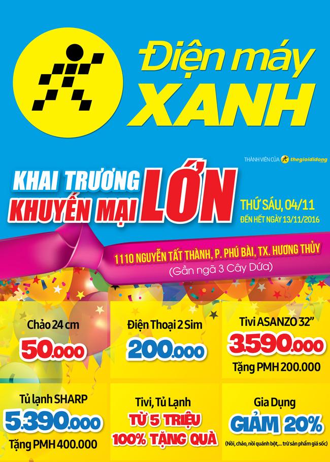 Khai trương siêu thị Điện máy XANH Hương Thủy, Huế