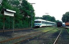 634 618  Sennestadt  13.05.94 (w. + h. brutzer) Tags: sennestadt eisenbahn eisenbahnen train trains deutschland germany railway triebwagen triebzug triebzge zug db 624 634 vt webru analog nikon