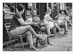 Crossed legs Ladies (sdc_foto) Tags: sdcfoto street streetphotography bw blackandwhite pentax pentaxart london ladies girls cafe talking pentaxflickraward