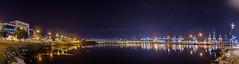 Puerto Algeciras - Pano Noct 1 (PictureJem) Tags: ciudad agua nocturna