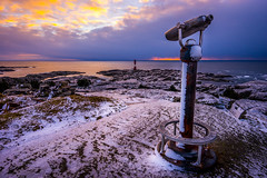 The lookout (Richard Larssen) Tags: richardlarssen richard larssen landscape light lighthouse teamsony norway norge norwegen nature eigersund egersund emount eigeroy eigery eigeryfyr eigeroyfyr eigerylighthouse eigeroylighthouse fyr winter snow sony scandinavia sea sunset sel1635z sky scenery sonyalpha magma geopark