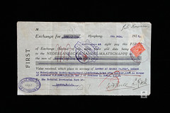 Nederlandsche Handel-Maatschappij  bill of exchange (Canadian Pacific) Tags: bank banking bankology billofexchange foreign draft old document paper ephemeral ephemera aimg5847 1927 hongkong nederlandschehandelmaatschappij netherlandstradingsociety abn abnamro algemenebanknederland