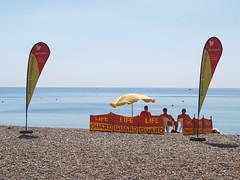 Baywatch (divnic) Tags: uk england brighton brightonandhove eastsussex brightonbeach shinglebeach sea beach lifeguard beachlifeguard baywatch brightonandhovelifeguard