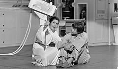 Carrie Fisher and Mark Hamill (Tom Simpson) Tags: starwars theempirestrikesback empirestrikesback vintage film behindthescenes movie 1979 1970s markhamill lukeskywalker carriefisher princessleia leia
