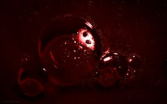 Abstract Universe 2 (Zsofia Nagy) Tags: abstract oil water bubbles bubble buborkok red flickrlounge weeklytheme